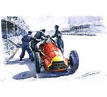 Pit Stop Alfa Romeo158 British GP 1950 J M Fangio Photographic Print