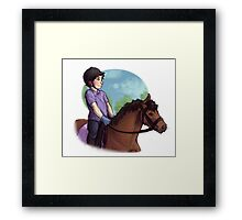 Kid!Equestrian!Sherlock  Framed Print