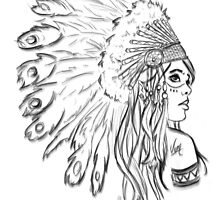 Red Indian - Line by Mamzelle-Lune