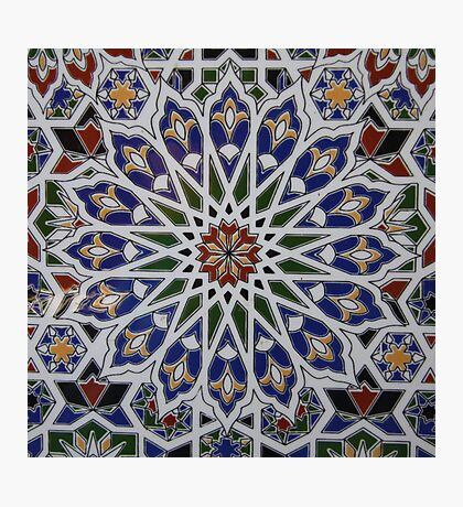 Moroccan tile design Photographic Print