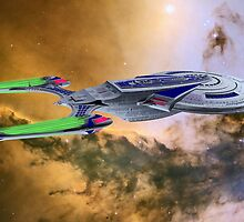 Into The Eagle Nebula by Walter Colvin