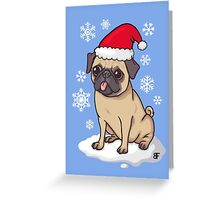 Christmas Pug Greeting Card