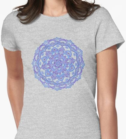 Lilac Spring Doodle Flower Womens Fitted T-Shirt