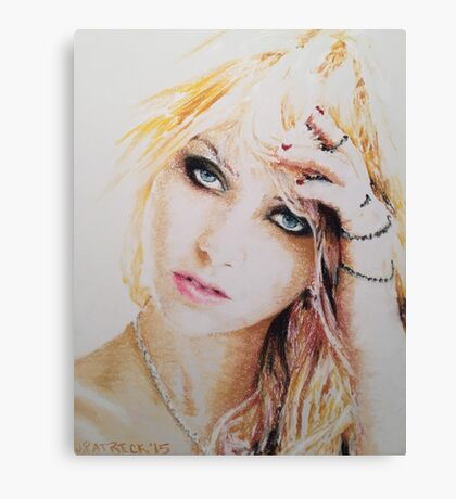 Taylor Momsen, Pastels Portrait, by James Patrick Canvas Print