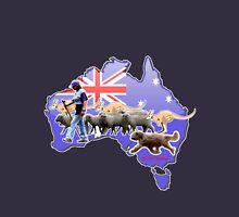 Briard herding sheep Aussie style Unisex T-Shirt