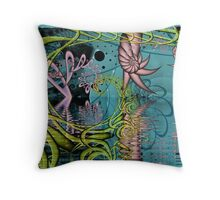 Roselite Series No. 14 - Down by the Water Throw Pillow