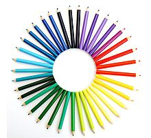 alternative rainbow circle (mark II) Photographic Print