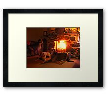 joaks saturday night (for rabbies birthday) Framed Print