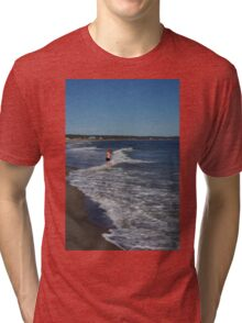 Girl in the Ocean Tri-blend T-Shirt