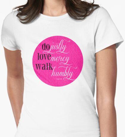 Do Justly | Micah 6:8 | Pink T-Shirt