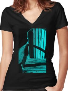 My favorite Chair Women's Fitted V-Neck T-Shirt