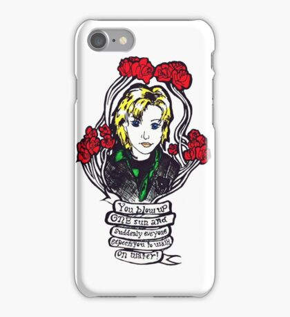 """""""You blow up ONE sun and suddenly everyone expects you to walk on water!"""" - Sam Carter iPhone Case/Skin"""