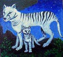 Spirit Animal - Tasmanian Wolf by Brita Lee