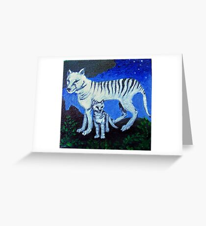 Spirit Animal - Tasmanian Wolf Greeting Card