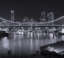Story Bridge B&W- Brisbane by Nathan Seiler