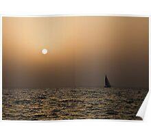 Dubai Beach Sunset Poster