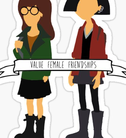 Daria & Jane - Value Female Friendships Sticker