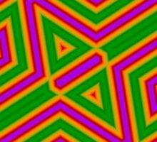 Purple green line pattern by ZierNor
