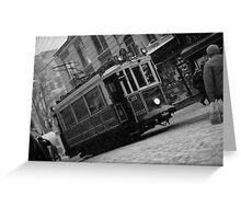Tram Greeting Card