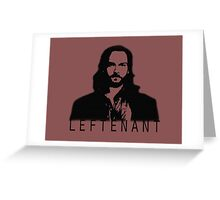 Leftenant Greeting Card