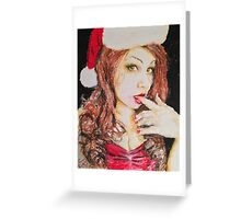 Lady Bella Christmas Beauty by James Patrick Greeting Card