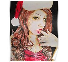 Lady Bella Christmas Beauty by James Patrick Poster