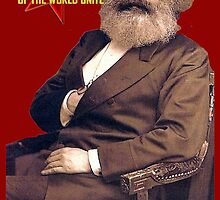 Karl Marx Workers Unite- Shirt, notebook, bags, cases, & more by fabrevolve