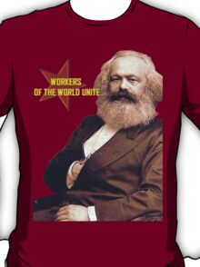 Karl Marx Workers Unite- Shirt, notebook, bags, cases, & more T-Shirt