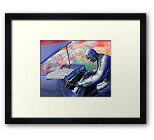 Blue Piano Framed Print