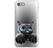 Cute Kitty Cartoon with Blue Eyes - 3D iPhone Case/Skin