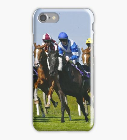 horse racing iPhone Case/Skin