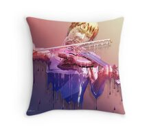 Weeping Violin Throw Pillow