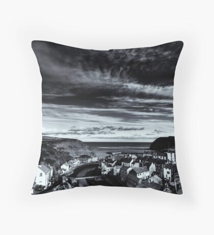 Staiths - North Yorkshire Coast Throw Pillow