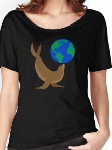 Earth Day Sea Lion Women's Relaxed Fit T-Shirt