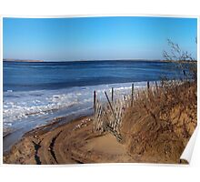 Frozen Napeague Bay Poster