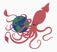 Earth Day Squid One Piece - Short Sleeve