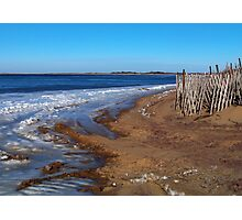 Frozen Napeague Bay Photographic Print