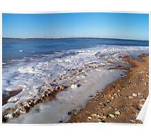 Frozen Napeague Bay Poster