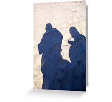 Sandy Shadows Greeting Card