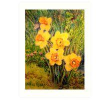 Daffodil Quintet Art Print
