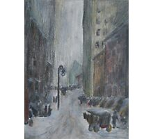 re: henri- snow in new york Photographic Print