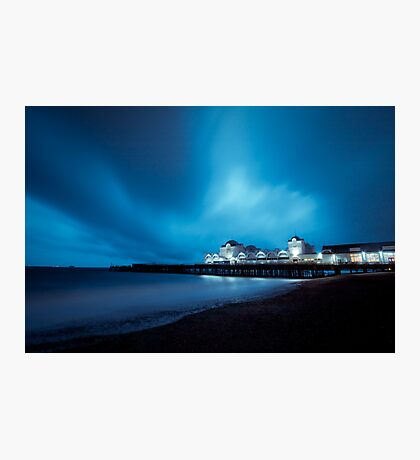 Blustery Beach Photographic Print