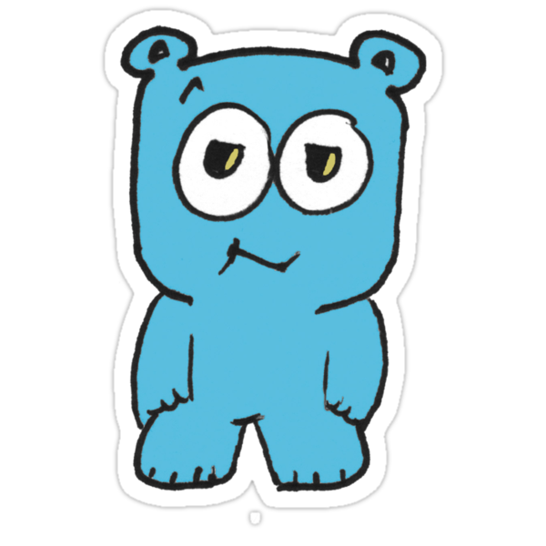 Baby Blue Bear by gzed
