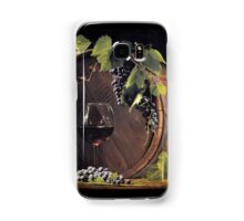 Still life: Barrel, grapes and wine Samsung Galaxy Case/Skin