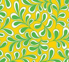 GreenSwish - An abstract leafy design by Aimee-Ellen