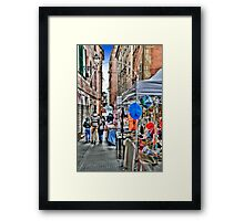 Rapallo Alley 2 Framed Print