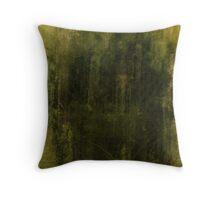 green grunge digital illustration Throw Pillow