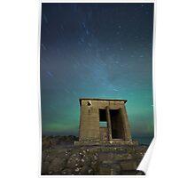 Star Trail at Seltjarnarnes Poster
