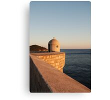 lookout on the wall in dubrovnik Canvas Print