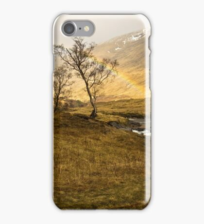 Scottish Highlands Rainbow iPhone Case/Skin